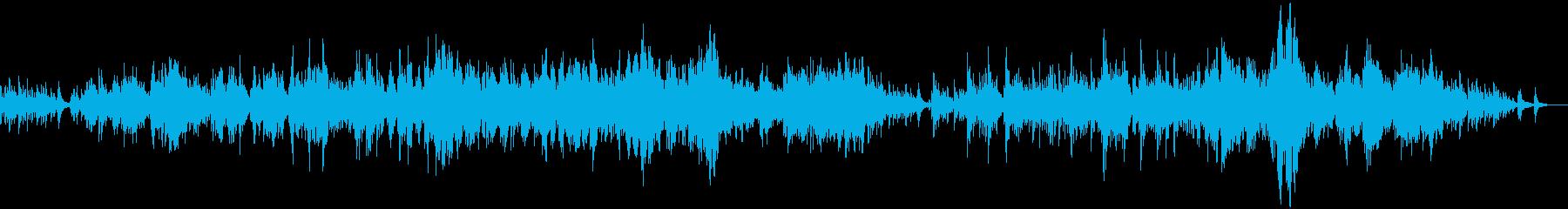 バイオリンとピアノの優しく切ない生演奏の再生済みの波形