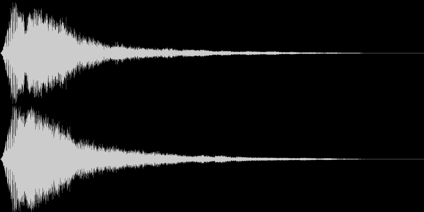 電子音・衝撃音(映画・映像作品)の未再生の波形
