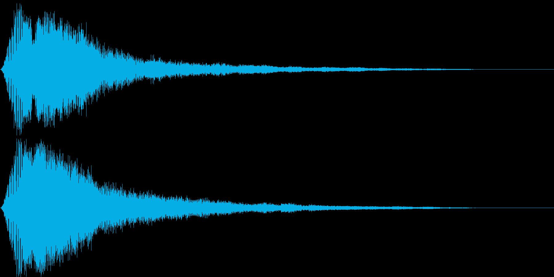電子音・衝撃音(映画・映像作品)の再生済みの波形