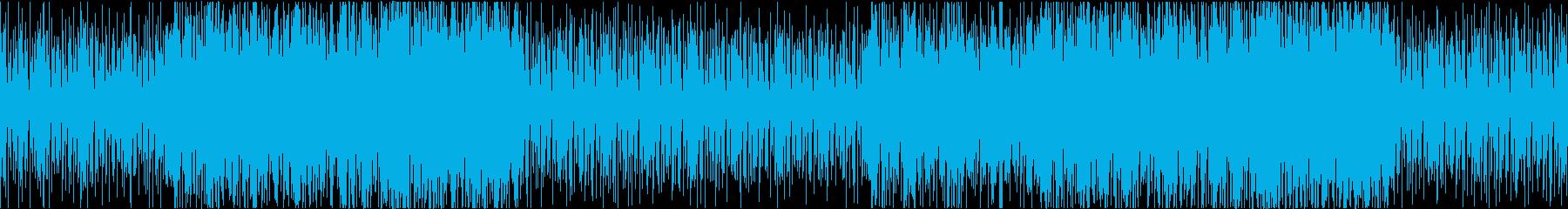 おしゃれで爽やか、ゆったりしたloop曲の再生済みの波形