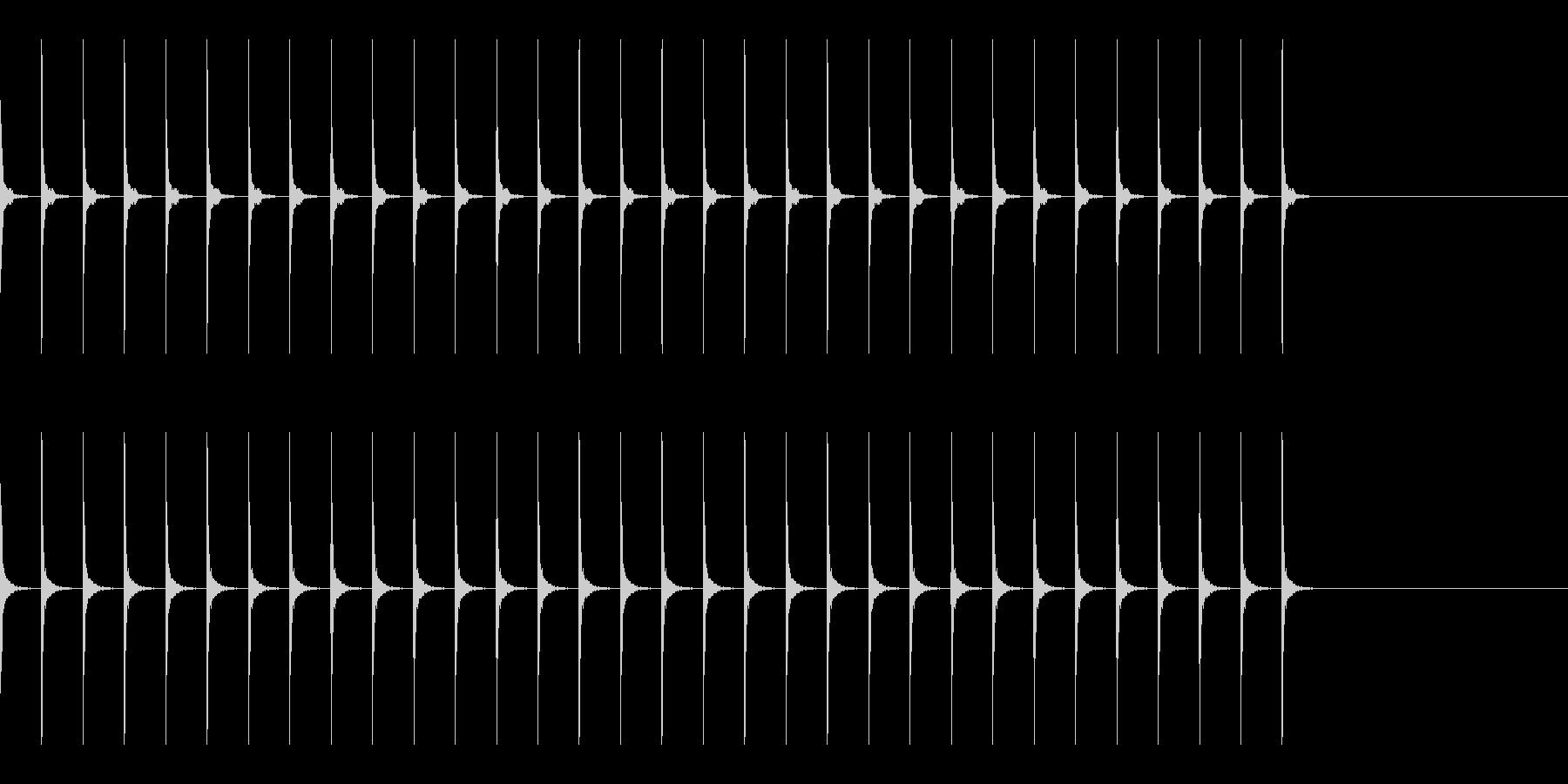 木製メトロノーム BPM208 プレストの未再生の波形