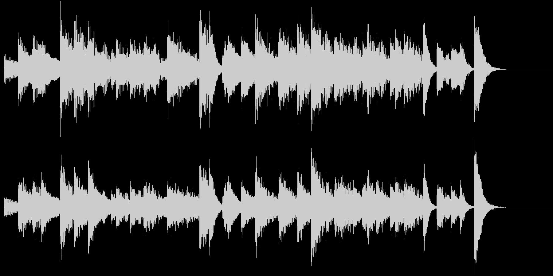 「花のワルツ」クラシックピアノジングルBの未再生の波形
