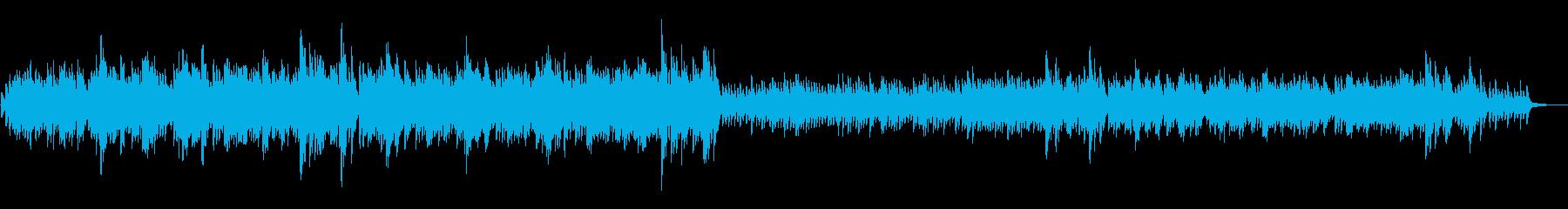 リラックスしたサウンドスケープのた...の再生済みの波形