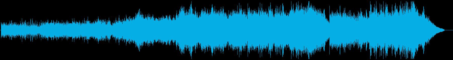 ピアノ&弦のドラマティックな曲の再生済みの波形