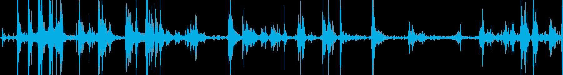 バードウィングハードフラップの再生済みの波形