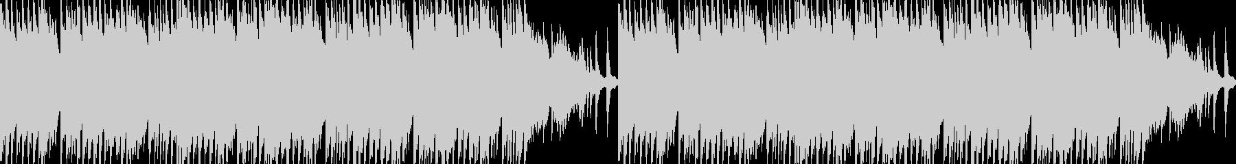 ピアノとフルートの切ないループBGMの未再生の波形