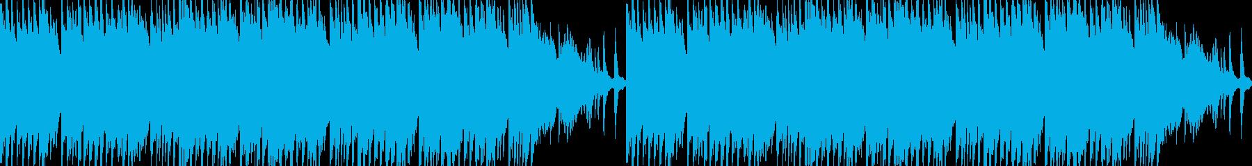 ピアノとフルートの切ないループBGMの再生済みの波形