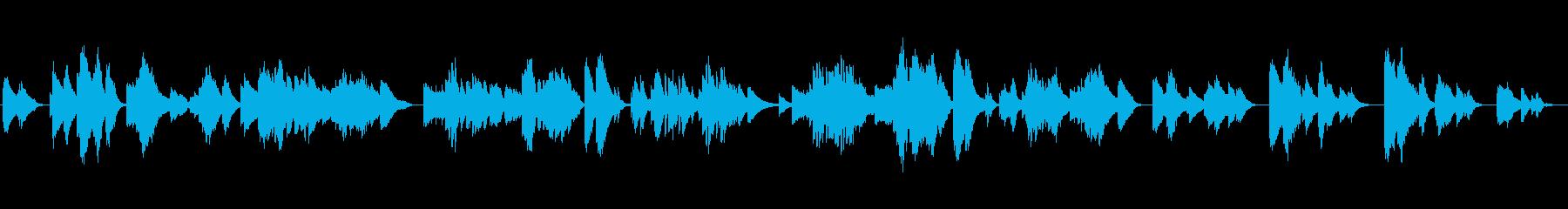 感動的なクラシックピアノの再生済みの波形