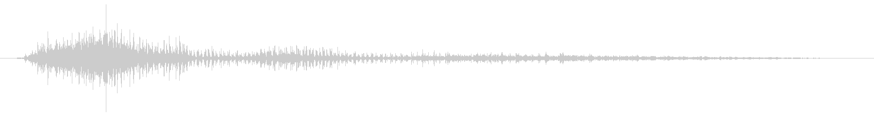 白鳥:シューッという音の未再生の波形