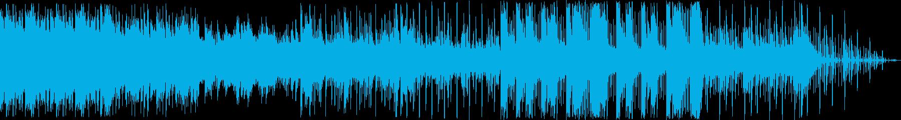 ピアノとシンセのエレクトロニカの再生済みの波形