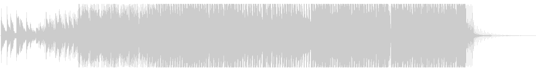 エモいテクノポップの未再生の波形