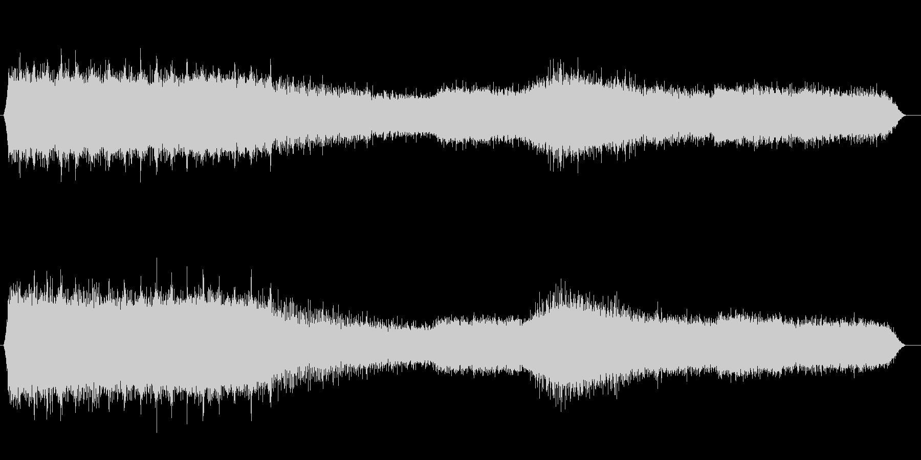 夕方のアブラゼミの鳴き声(夏、夕方)の未再生の波形