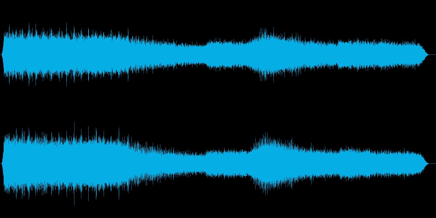 夕方のアブラゼミの鳴き声(夏、夕方)の再生済みの波形