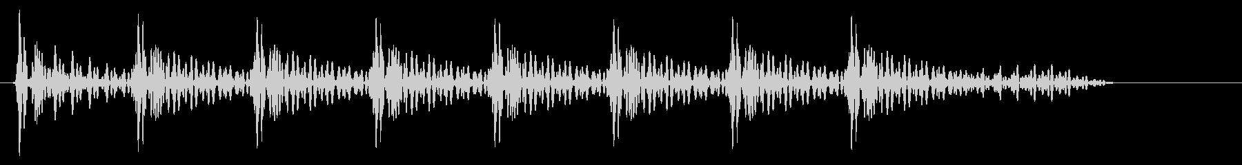 トトトン(打つ音色)の未再生の波形