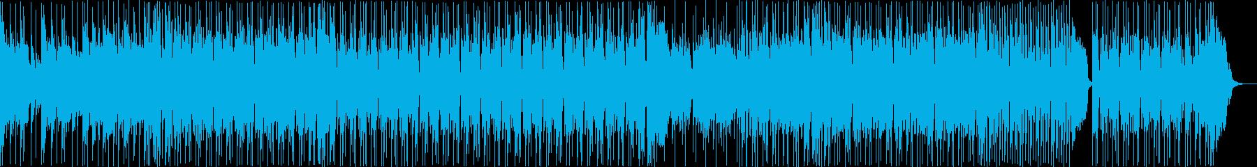 スタイリッシュなファンクミュージックの再生済みの波形