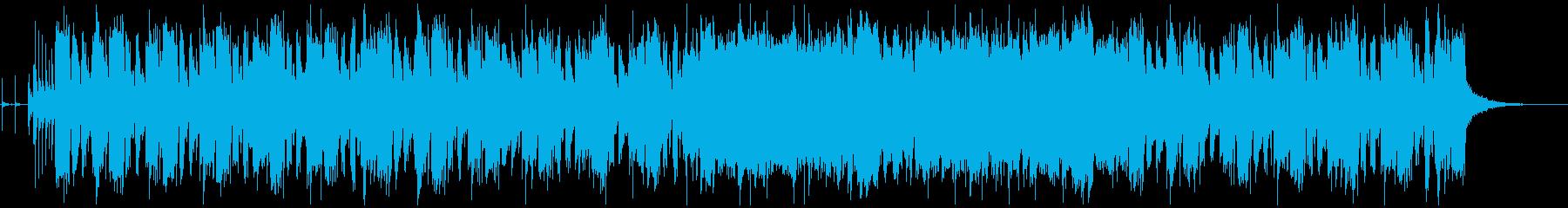 オーバードライブギターのロックな曲の再生済みの波形