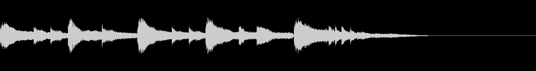 あたたかい少し切ないピアノのジングルの未再生の波形