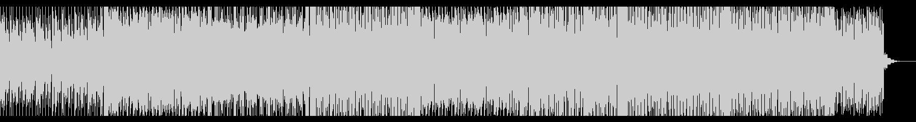楽しく軽快な印象のBGMの未再生の波形