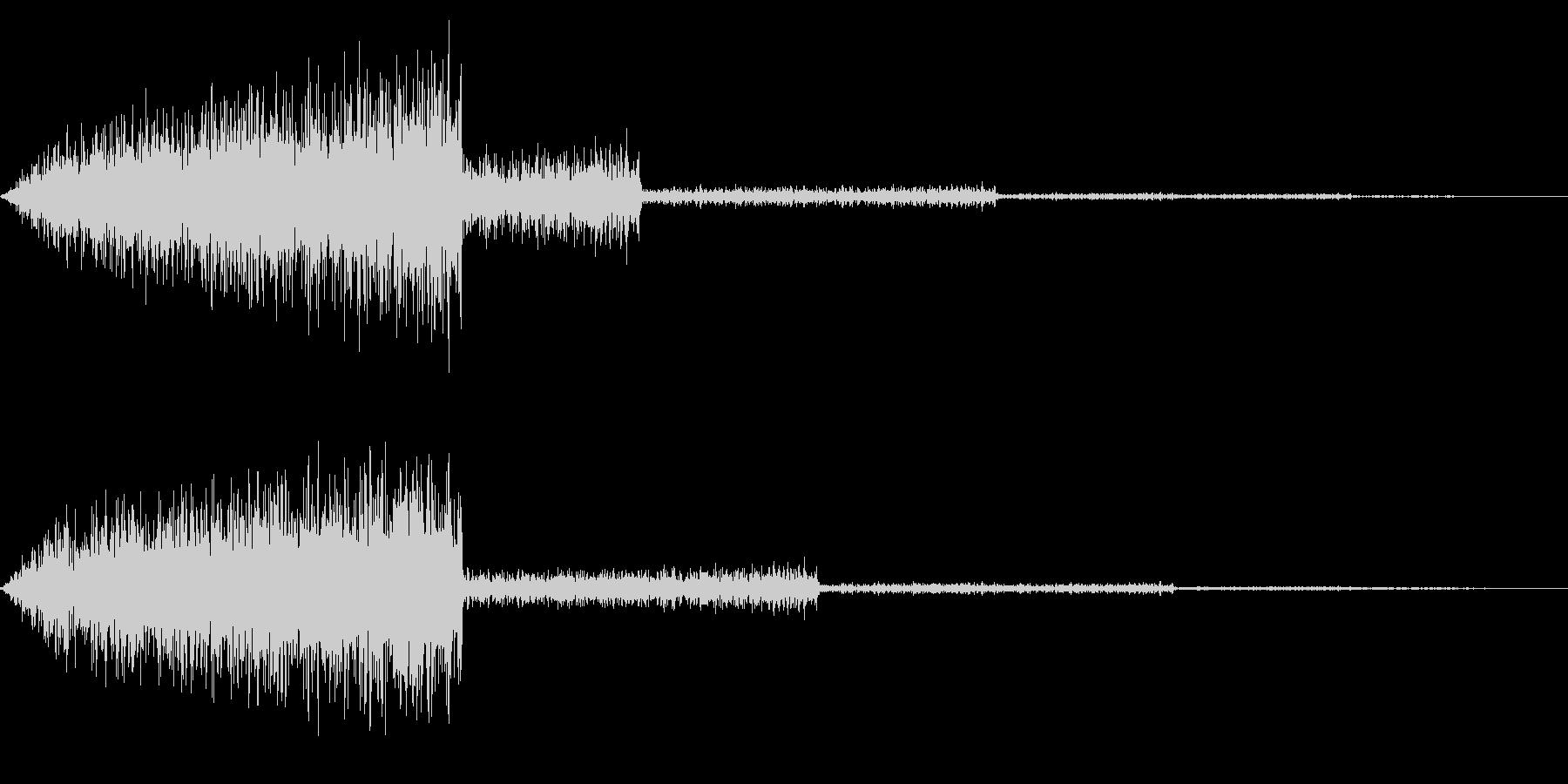 ホラー系アタック音32の未再生の波形