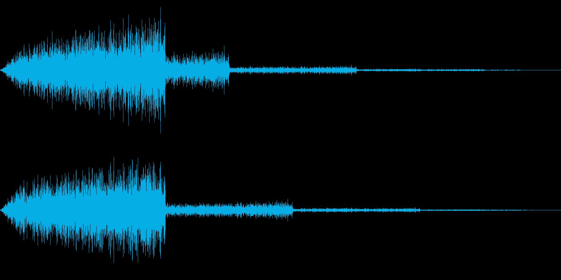 ホラー系アタック音32の再生済みの波形