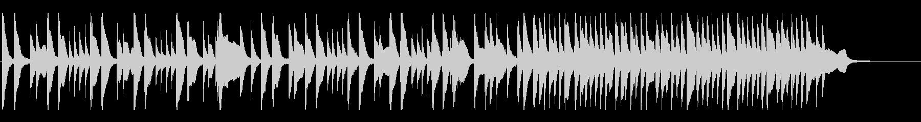 鳩の鳴き声BGMの未再生の波形