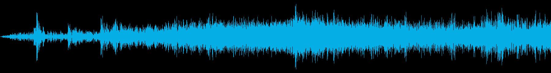電車発車(車内で録音)の再生済みの波形