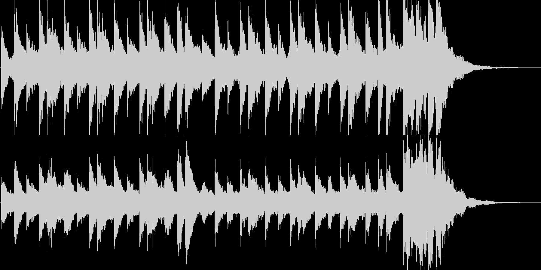 ちょっとけだるい雰囲気のピアノBGMの未再生の波形