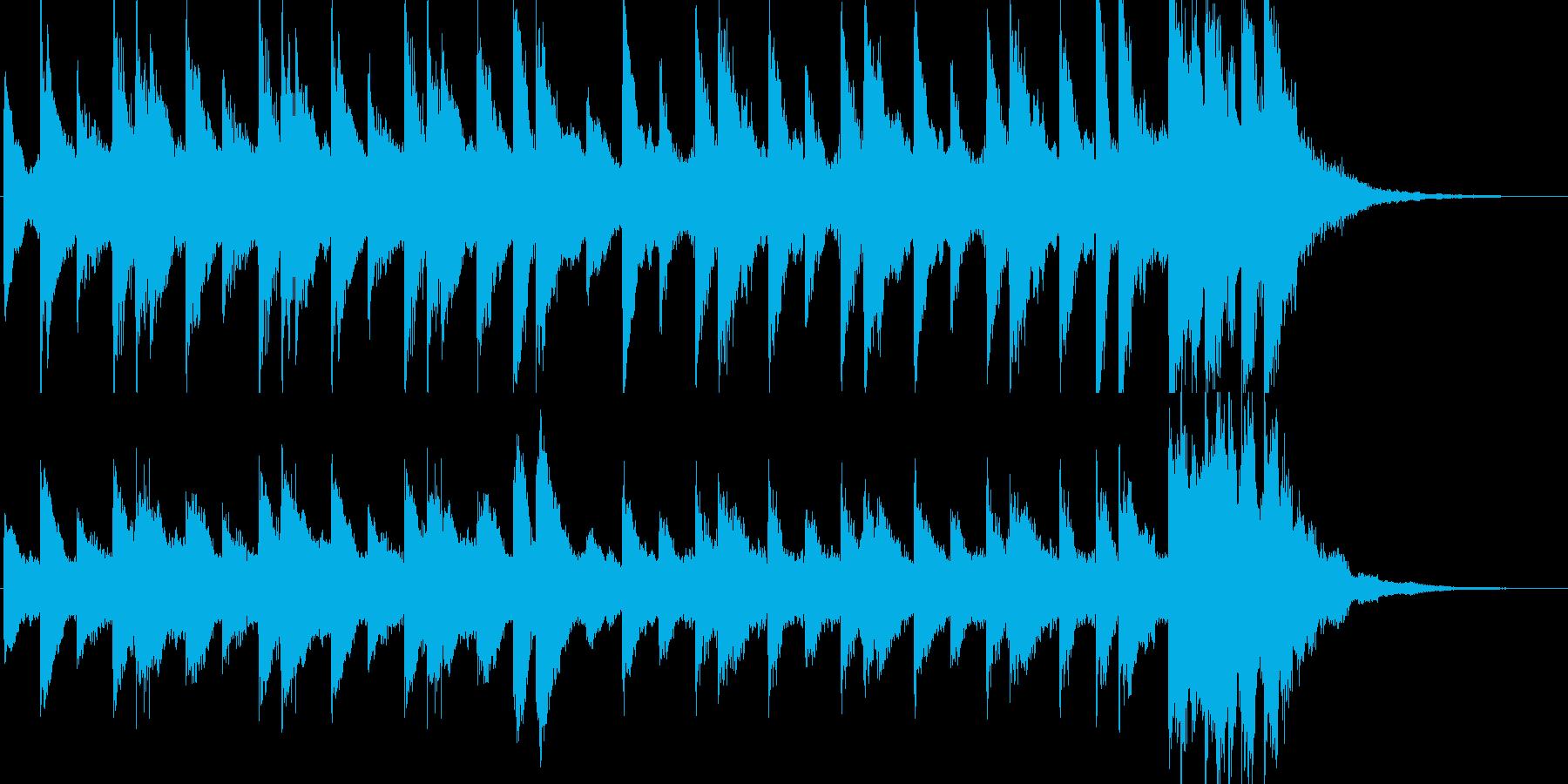 ちょっとけだるい雰囲気のピアノBGMの再生済みの波形
