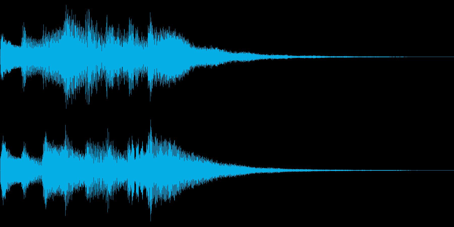 次のニュースです(キラキラ・軽い緊張感)の再生済みの波形