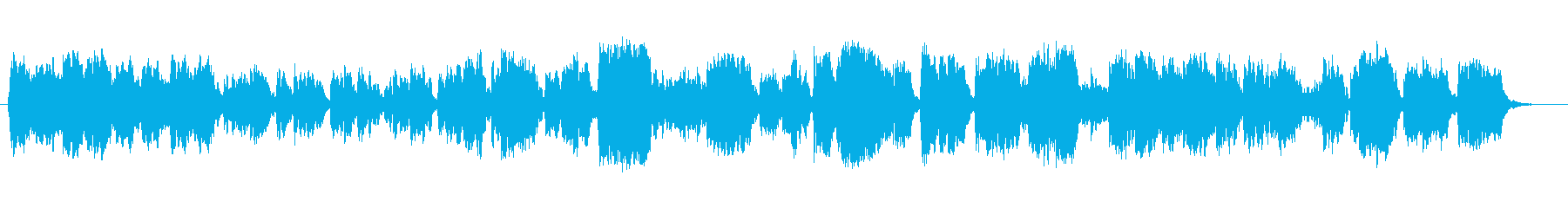 Refreshing fantasy female voice sound's reproduced waveform