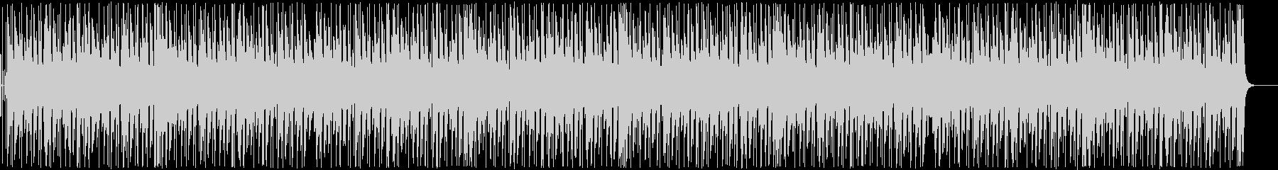 ピアノとギターがメインの軽快なBGMの未再生の波形
