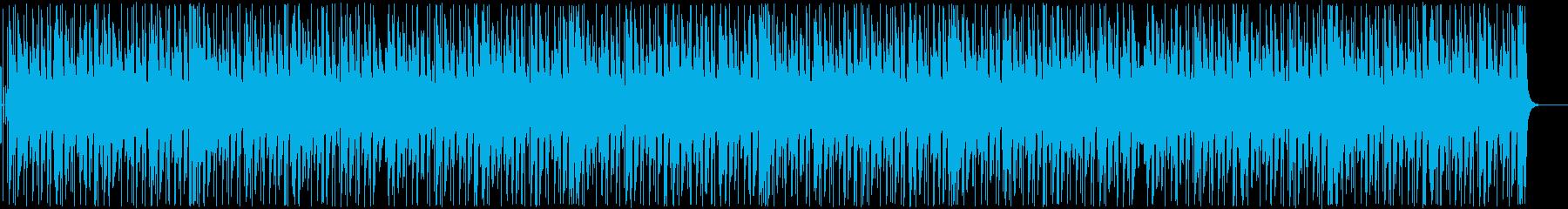 ピアノとギターがメインの軽快なBGMの再生済みの波形