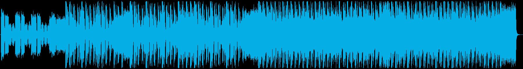 バトル、緊迫シーン向けロック調ジングル2の再生済みの波形
