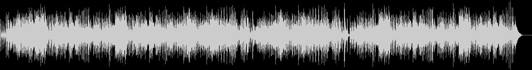 ピアノとドラムによる陽気なラグタイムの未再生の波形