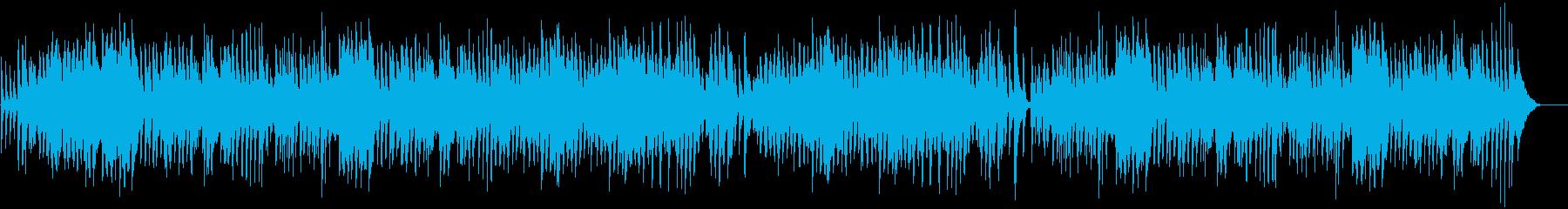 ピアノとドラムによる陽気なラグタイムの再生済みの波形