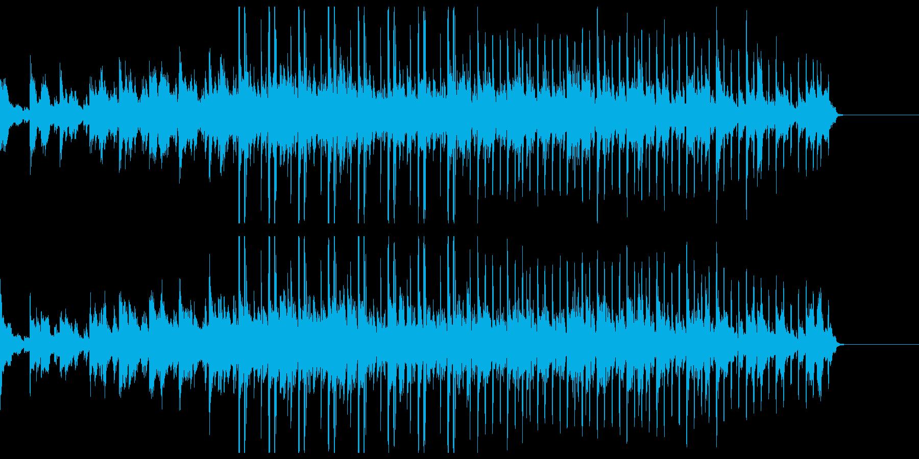 短めダウンテンポの幻想的な曲の再生済みの波形