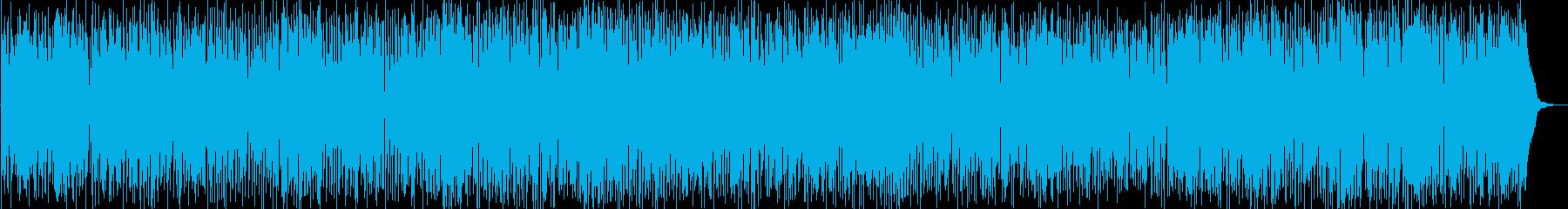 気分が盛り上がるノリノリのファンクの再生済みの波形