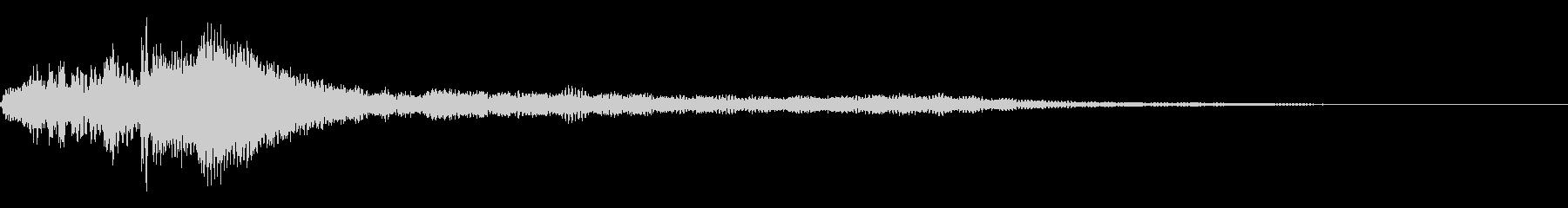 ローファイ・ドキュメンタル風ピアノhの未再生の波形