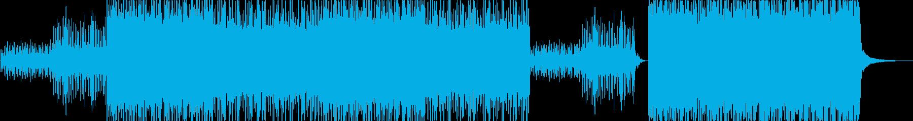ノスタルジックなHIPHOPトラックの再生済みの波形