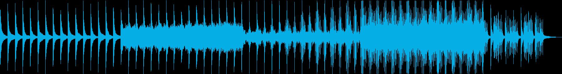 メロディはほぼ無く徐々に静かに盛り上がるの再生済みの波形