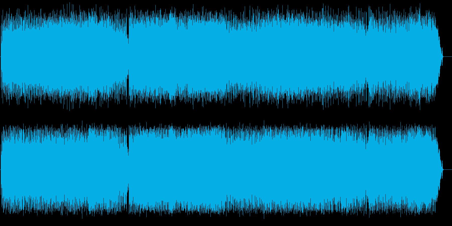 ハードなギターアメリカンポップロックの再生済みの波形