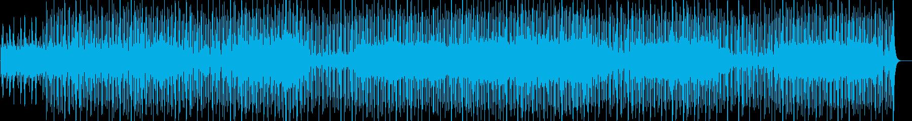 淡々とした無機質シンセサウンドの再生済みの波形