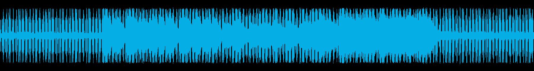軽快でアクション向きなチップチューンの再生済みの波形