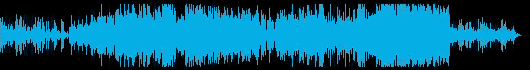 日本の夕暮れ、雄大、感動(打楽器抜き)の再生済みの波形