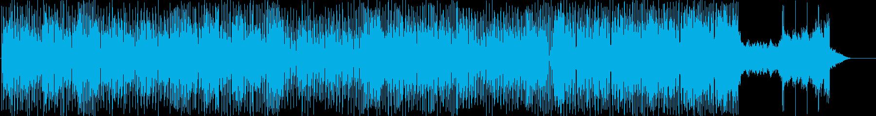 和風なハウスミュージックの再生済みの波形
