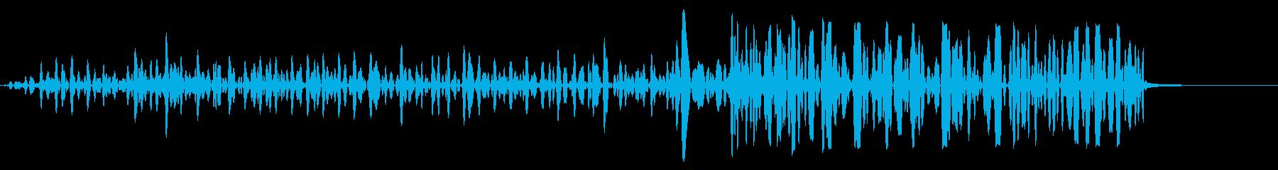 静的ヒットの再生済みの波形