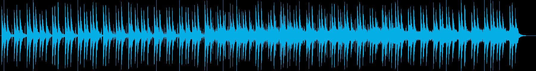 壮大で変則的な音階のオルガンのBGMの再生済みの波形