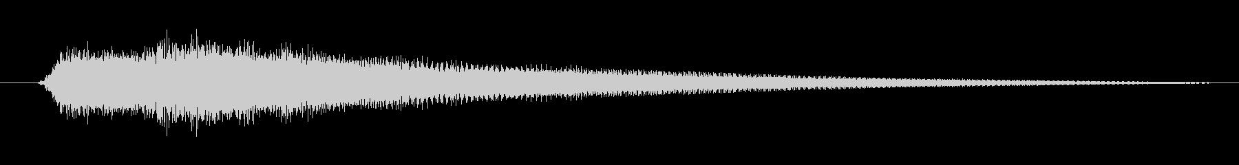 エレキギターで奏でた明かるく爽快なコードの未再生の波形