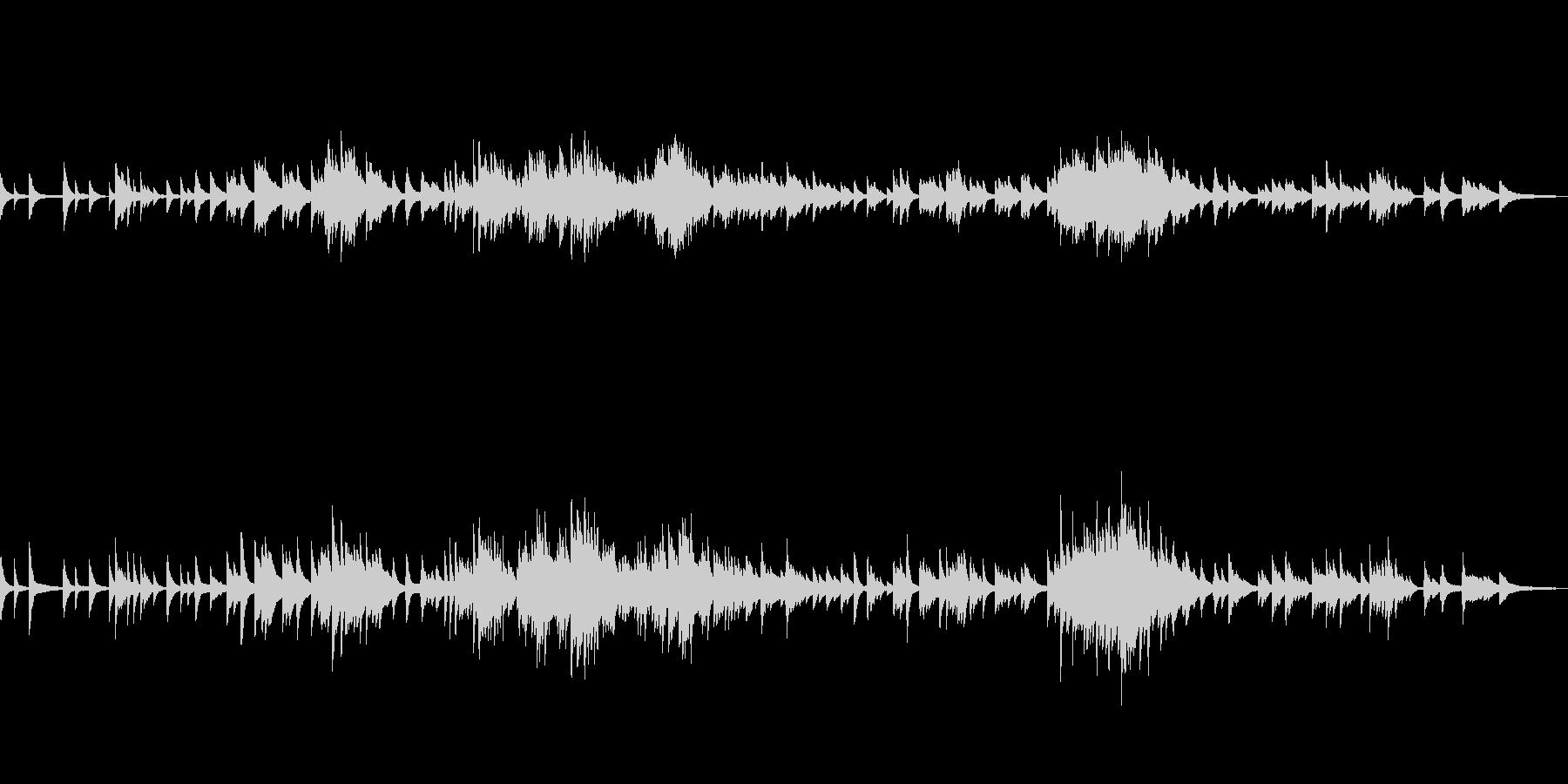 C=528Hz 癒しのピアノ ゆっくりの未再生の波形