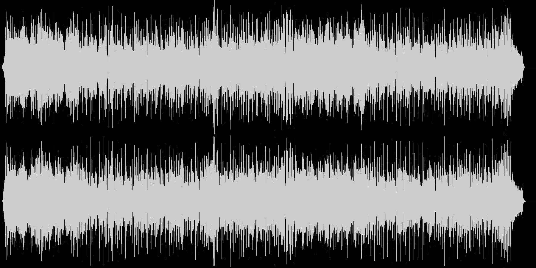 スピード感のある暗めのミュージックの未再生の波形
